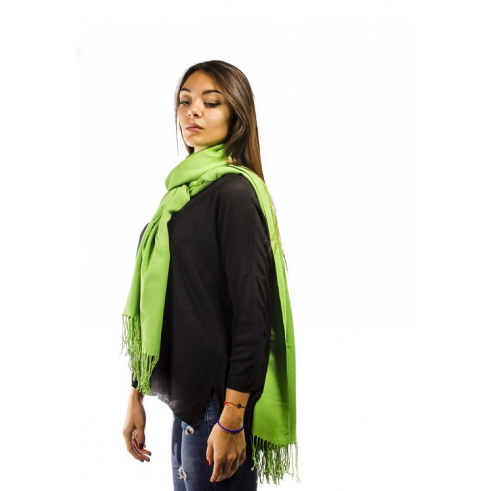 Зелен Дамски Едноцветен Шал