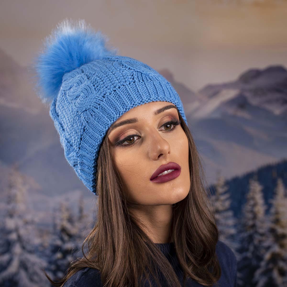 Светло Синя Дамска Шапка