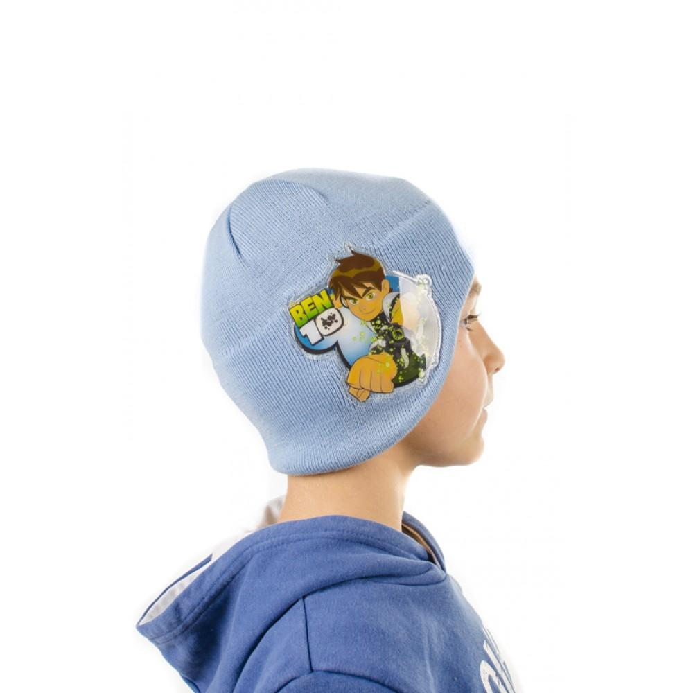Светло Синя Детска Шапка Ben 10