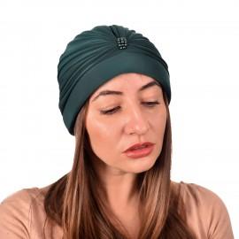 Дамски тюрбан с перлички в Зелен цвят