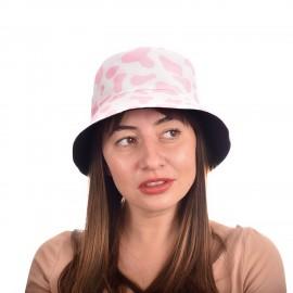 Шапка тип Идиотка в Розово и Бяло