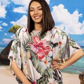 Плажна Туника с Тропически Цветя