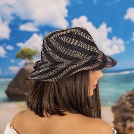 Капела Тъмно синьо и натурал райе