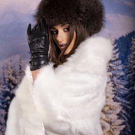 Дамска Зимна Пелерина в Бяло