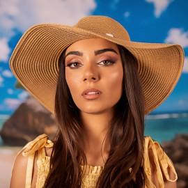 Дамска Бежова Плетена Зимна Шапка