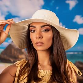 Дамска Синя Плетена Шапка