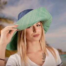Зелено и синьо Капела от Рафия