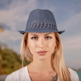 Дамско Бомбе в Синьо със синя лента на Котвички