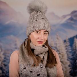 Дамски зимен комплект от 2 части с пайети