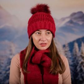 Дамски зимен комплект от 2 части Червен