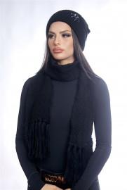 Дамски зимен комплект черен