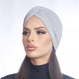 Дамски тюрбан светло сив