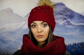 Дамски Зимен Комплект Бордо