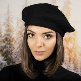 Дамска Зимна Барета Черна