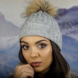 Дамска Плетена Зимна Шапка Сива