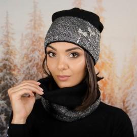 Дамски Зимен Комплект в Черно