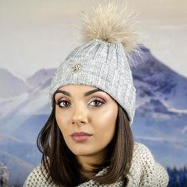 Сива Дамска Плетена Шапка