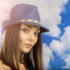 Дамско Бомбе в Синьо с Шарена Лента
