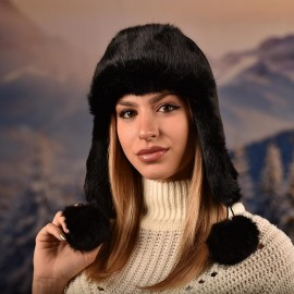 Дамска Зимна Ушанка от Заек