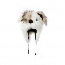 Зимна Пухкава Детска шапка Животно Куче