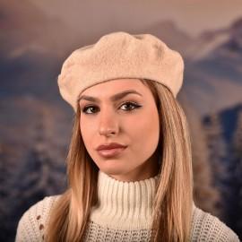 Дамска Зимна Барета Екрю