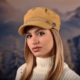 Дамска Зимна Капитанска Шапка с козирка