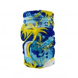 Многофункционална шарена кърпа за глава жълти палми