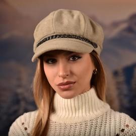 Дамска Зимна Барета Светла
