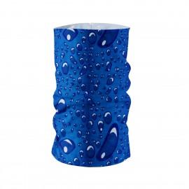 Многофункционална шарена кърпа за глава синя на капки