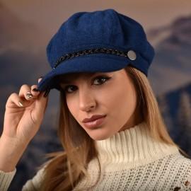 Дамска Зимна Барета Синя