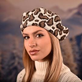 Светла тигрова Дамска Зимна Барета