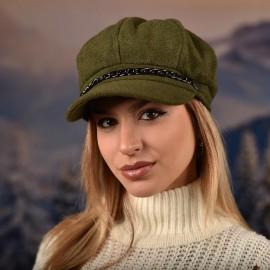 Дамска Зимна Барета Зелена